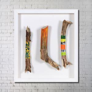 Leinwandbild Holz Fun Digitaldruck ohne Rahme-A