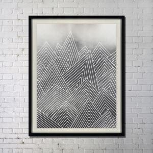 Leinwandbild Abstrakt Tusche Digitaldruck ohne Rahme-G