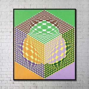 Leinwandbild Abstrakt Spielwürfel Digitaldruck ohne Rahme
