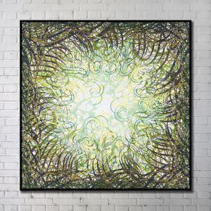 Leinwandbild Abstrakt Grünes Gras Digitaldruck ohne Rahme