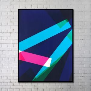 Leinwandbild Abstrakt Geometrisch Digitaldruck ohne Rahme