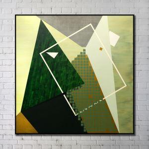 Leinwandbild Abstrakt Grün Digitaldruck ohne Rahme-A