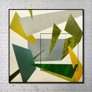 Leinwandbild Abstrakt Grün Digitaldruck ohne Rahme-B