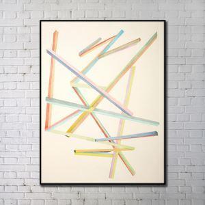 Leinwanddruck Abstrakt Farbiges Holz Digitaldruck ohne Rahme