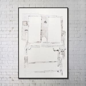 Leinwanddruck Abstrakt Fenster Digitaldruck ohne Rahme
