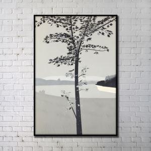Leinwanddruck Abstrakt Baum Digitaldruck ohne Rahme-A