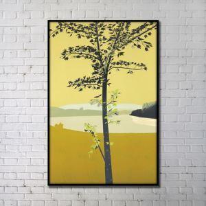 Leinwanddruck Abstrakt Baum Digitaldruck ohne Rahme-B