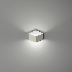 Moderne Wandlampe Eckig aus Metall Weiß