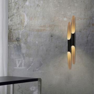 moderne wandleuchte bambus design. Black Bedroom Furniture Sets. Home Design Ideas