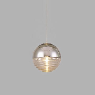 kaufen glas pendelleuchte kugel design silber mit g nstigem preis. Black Bedroom Furniture Sets. Home Design Ideas