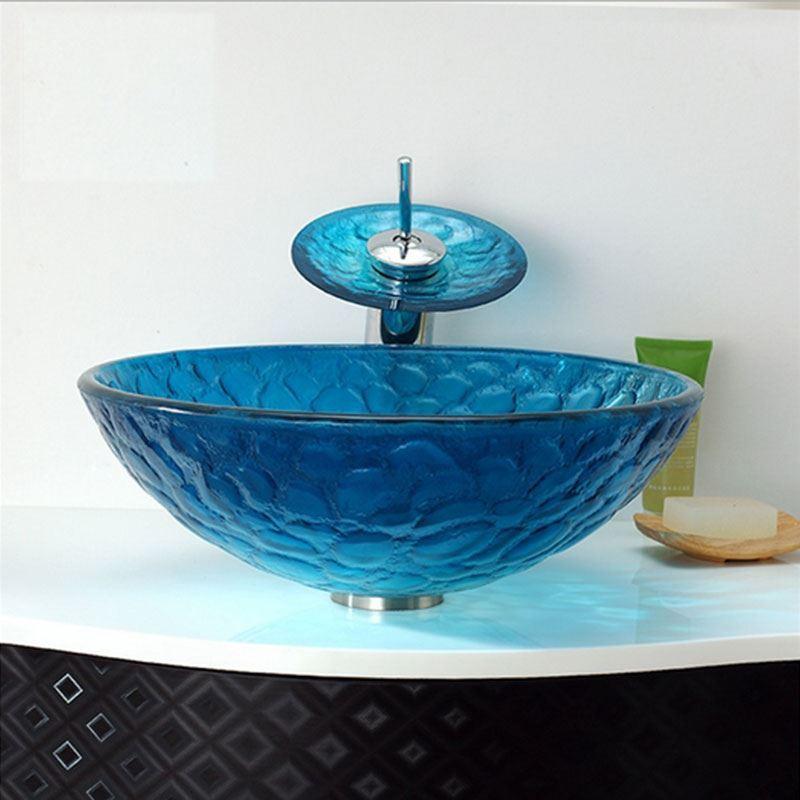 armaturen waschbecken armaturen sets eu lager glas waschbecken set mediterran stil rund. Black Bedroom Furniture Sets. Home Design Ideas