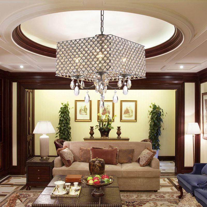 beleuchtung pendelleuchten eu lager moderne pendelleuchte 4 flammige h ngeleuchte mit. Black Bedroom Furniture Sets. Home Design Ideas