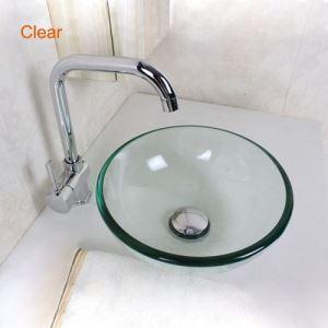 (EU Lager)Glas Waschbecken Modern Für Gäste WC