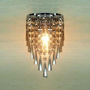 (EU Lager)Kristall Wandleuchte Glanzvoll mit Edelstahl Gestell 1-flammig