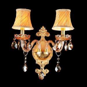 (EU Lager)Luxuriöse Wandleuchte Kristall Vintage Beige 2-Flammig