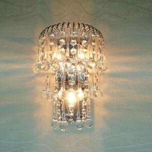 (EU Lager)Glänzende Wandleuchte Kristall Tropfen Design 3-Flammig