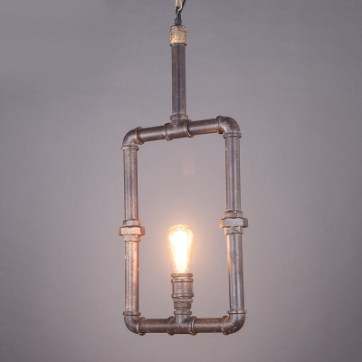 landhaus pendelleuchte wasserrohr design eckig 1 flammig mit g nstige preis kaufen. Black Bedroom Furniture Sets. Home Design Ideas