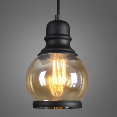 glas pendelleuchte vintage schwarz 1 flammig mit g nstige preis kaufen. Black Bedroom Furniture Sets. Home Design Ideas