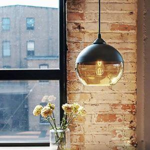 (EU Lager)Landhaus Pendelleuchte Glas Kugel Design 1-Flammig
