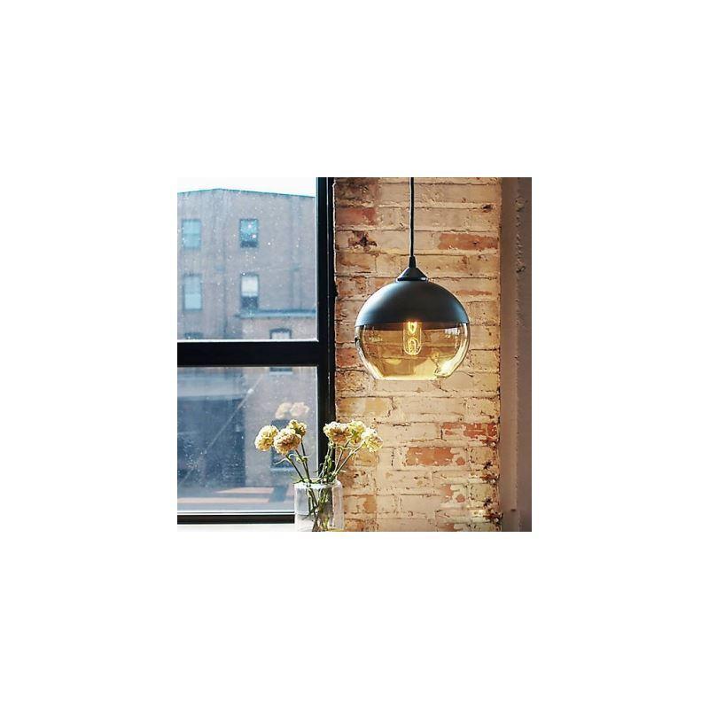 kaufen landhaus pendelleuchte glas kugel design schwarz 1. Black Bedroom Furniture Sets. Home Design Ideas