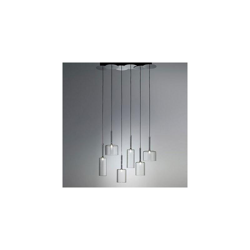kaufen glas pendelleuchte modern stilvoll 6 flammig mit g nstigen preis. Black Bedroom Furniture Sets. Home Design Ideas