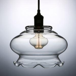 (EU Lager)Glas Pendelleuchte Landhaus Stil Floral Design 1-Flammig