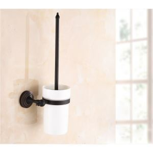 (EU Lager)WC-Bürstenhalter Antik Messing Bad Accessoires Schwarz