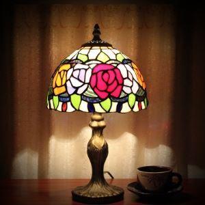 (EU Lager)Tischleuchte im Tiffany Stil Floral Design 1-Flammig