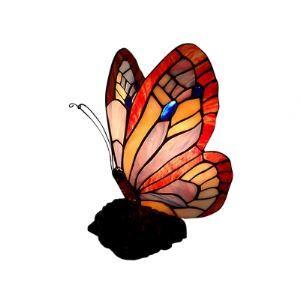 (EU Lager)Stilvolle Tischleuchte im Tiffany Stil Schmetterling Design 1-Flammig