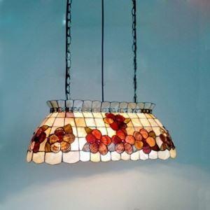 (EU Lager)Tiffany Hängeleuchte aus Muscheln Billardtisch Design 3-Flammig
