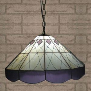 (EU Lager)Pendelleuchte aus Glas im Tiffany Stil Diamant Design 2-Flammig