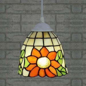 (EU Lager)Mini Pendelleuchte im Tiffany Stil Sonnenblume Design 1-Flammig