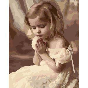 (EU Lager)Malen nach Zahlen Gebet Mädchen DIY Handgemaltes Digital Ölgemälde 40*50 cm