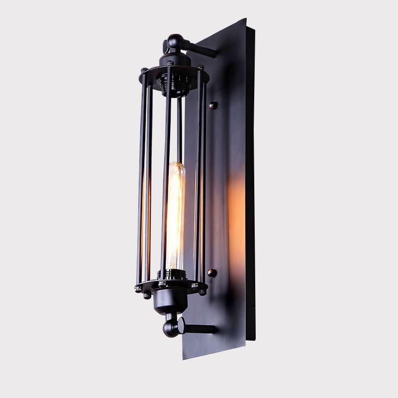 wandleuchte rustikal aus eisen design 1 flammig. Black Bedroom Furniture Sets. Home Design Ideas