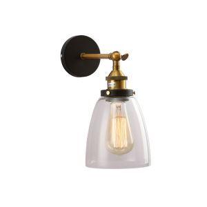 (EU Lager)Vintage Wandlampe Glas Glocke Design 1-Flammig