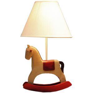 (EU Lager)Kinder Tischlampe Cartoon Pferde Design mit Stoff Schirm