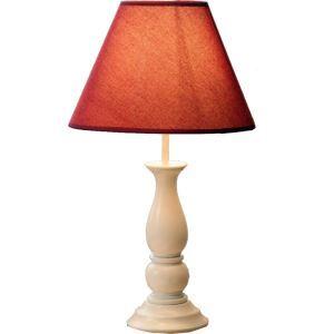 (EU Lager)Tischlampe Landhaus Stil mit Stoff Schirm 1-Flammig