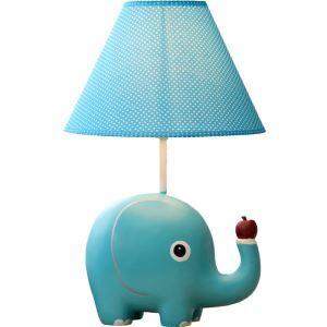 (EU Lager)Moderne Tischlampe Cartoon Elefant Design mit Stoff Schirm