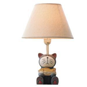 (EU Lager)Tischlampe Cartoon Katze mit Fisch Design im Kinderzimmer