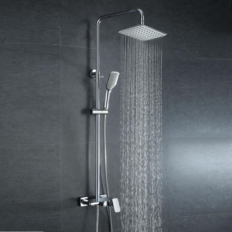 moderne duscharmatur regendusche aus messing mit einhebelmischer silber. Black Bedroom Furniture Sets. Home Design Ideas
