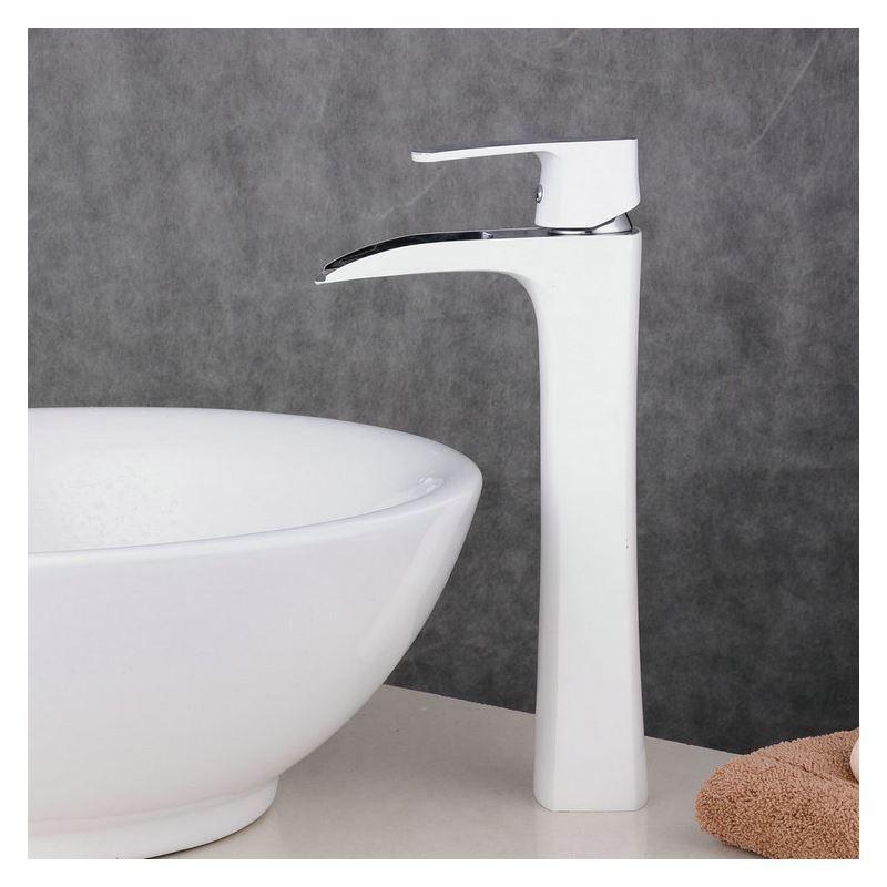 moderne waschtischarmatur bad einhand wei chrom. Black Bedroom Furniture Sets. Home Design Ideas