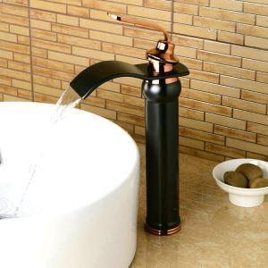 (EU Lager)Waschtischarmatur Bad Modern Einhebel Einloch Schwarz