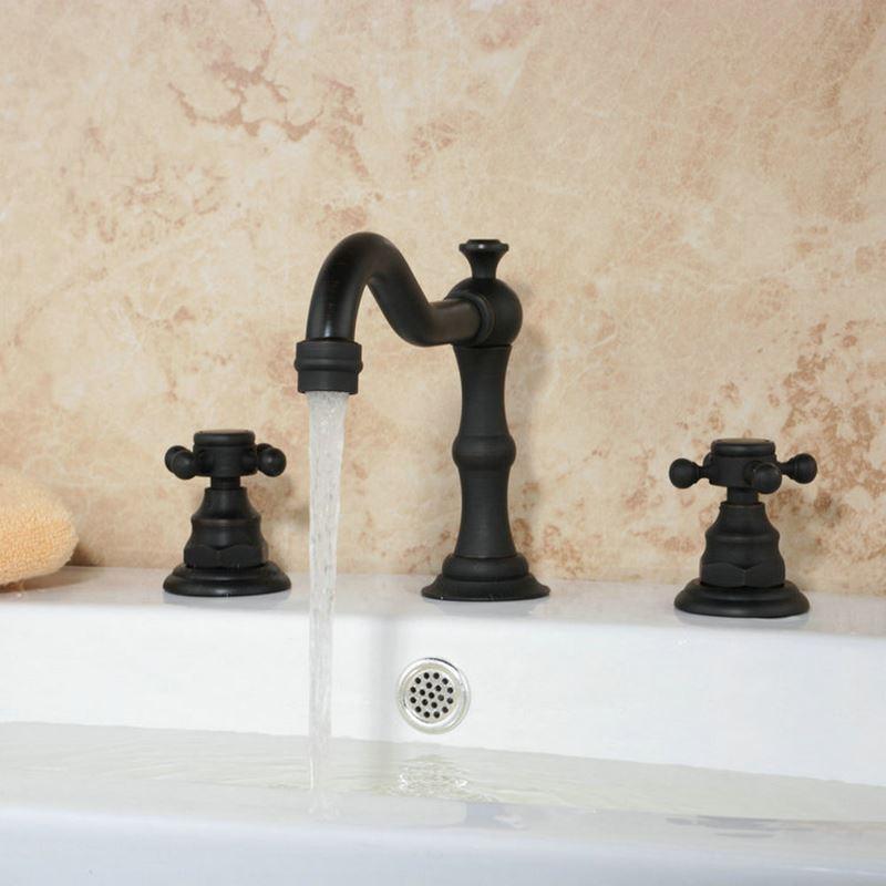 zweihebel waschtischarmatur bad design schwarz. Black Bedroom Furniture Sets. Home Design Ideas