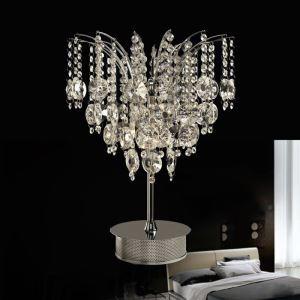 (EU Lager)Modern Luxuriöse Kristall Tischleuchte in Schmetterling Form