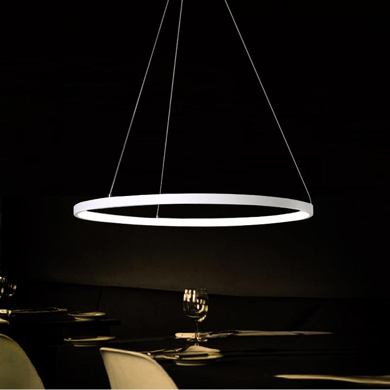 Pendelleuchte Modern eu lager versandkostenfreie led pendelleuchte modern ring design