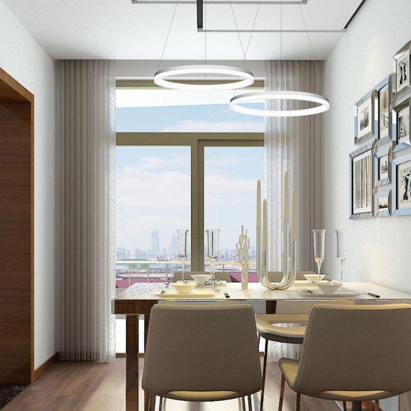 led pendelleuchte modern ring design aus acryl 40cm. Black Bedroom Furniture Sets. Home Design Ideas