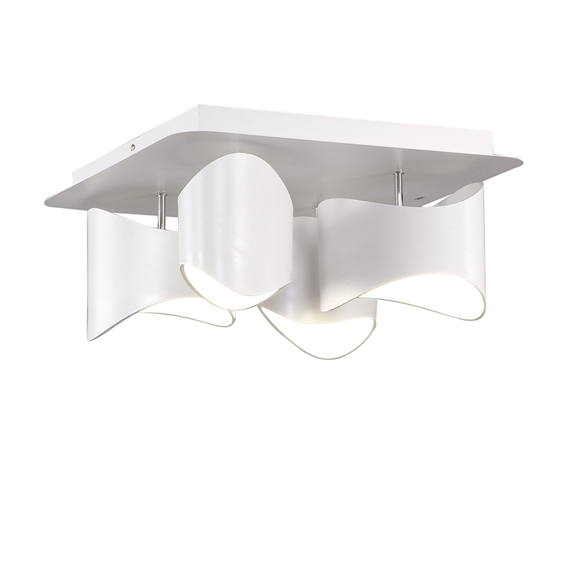 led deckenleuchte modern aus acryl eckig wei 4 flammig. Black Bedroom Furniture Sets. Home Design Ideas