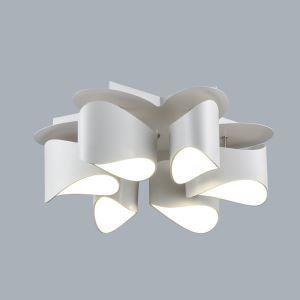 (EU Lager)Moderne Deckenleuchte Led aus Acryl Floral Design 6-Flammig