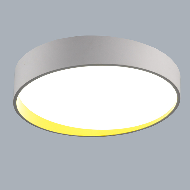 moderne deckenleuchte led rund wei 60 cm. Black Bedroom Furniture Sets. Home Design Ideas