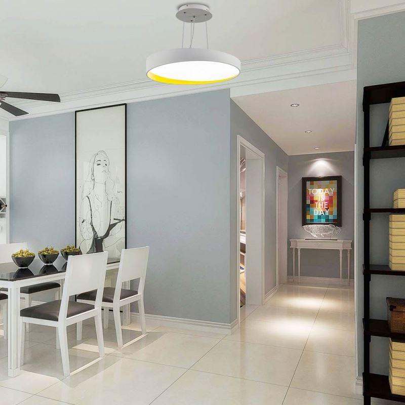 led pendelleuchte modern rund wei. Black Bedroom Furniture Sets. Home Design Ideas